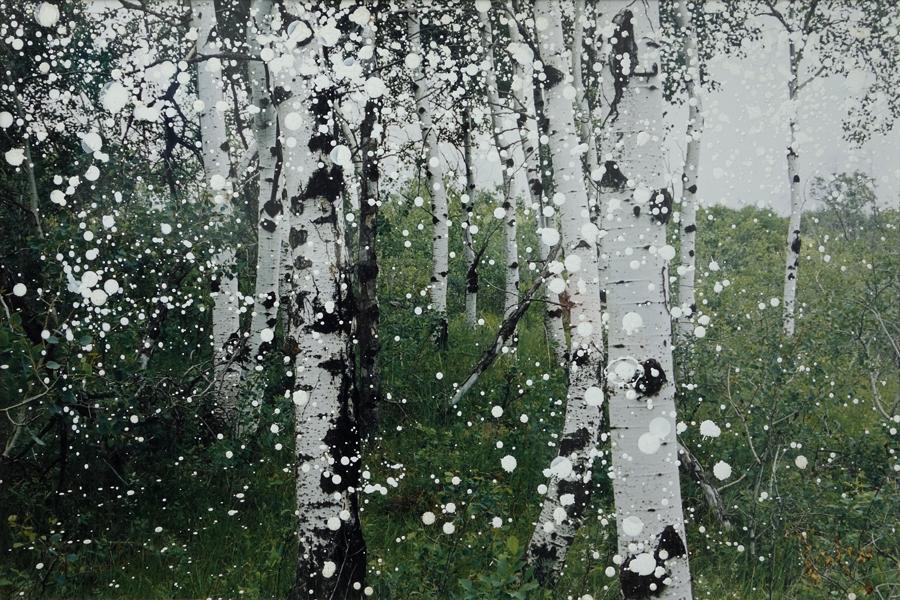Marion Kieft - Unforeseen snow, 2005 - bewerkte foto - 40 x 60 cm