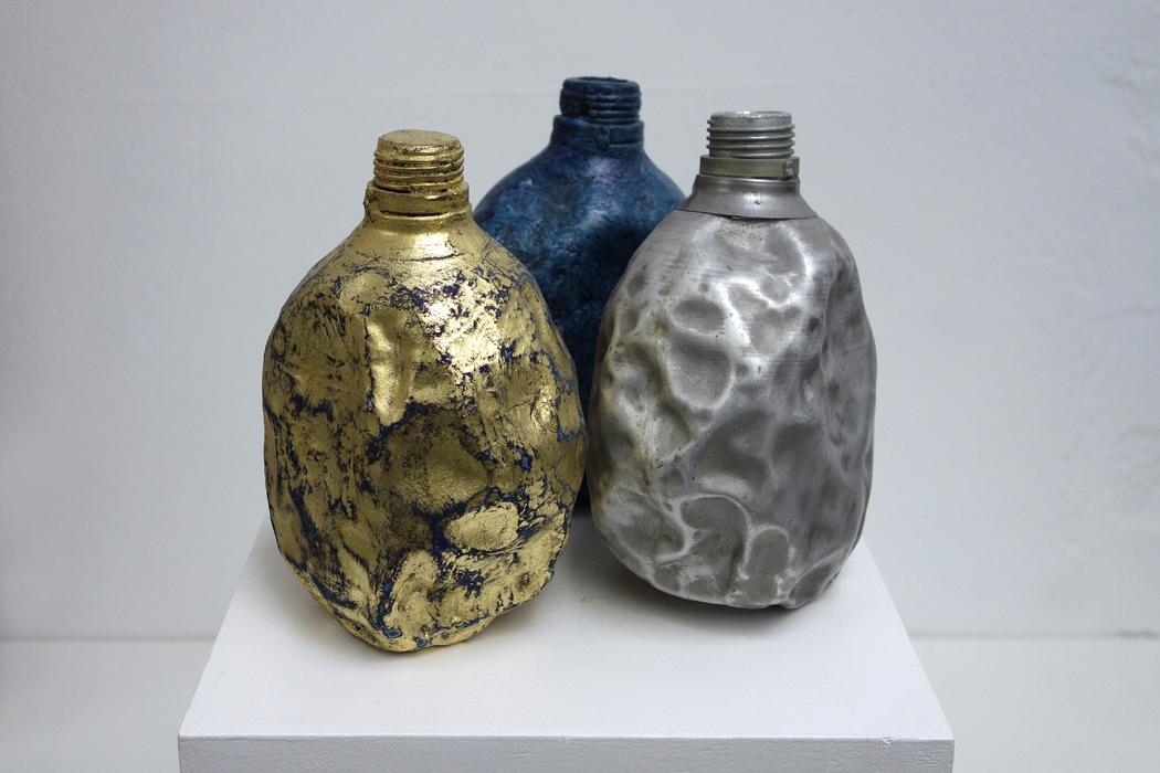 Marion Kieft - Trinity, 2017 - various materials - 3x 9x12,5x17,5 cm